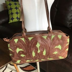 LEADERS IN LEATHER Tooled Purse